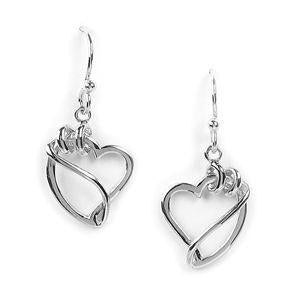 Jody Coyote Wilder Hearts Curling Ribbon Heart Earring
