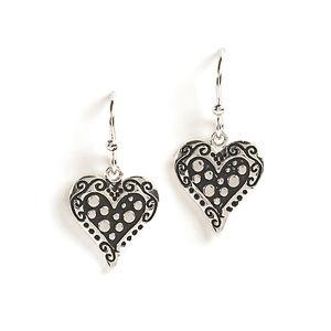 Jody Coyote Wilder Hearts Antiqued Curio Heart Earring