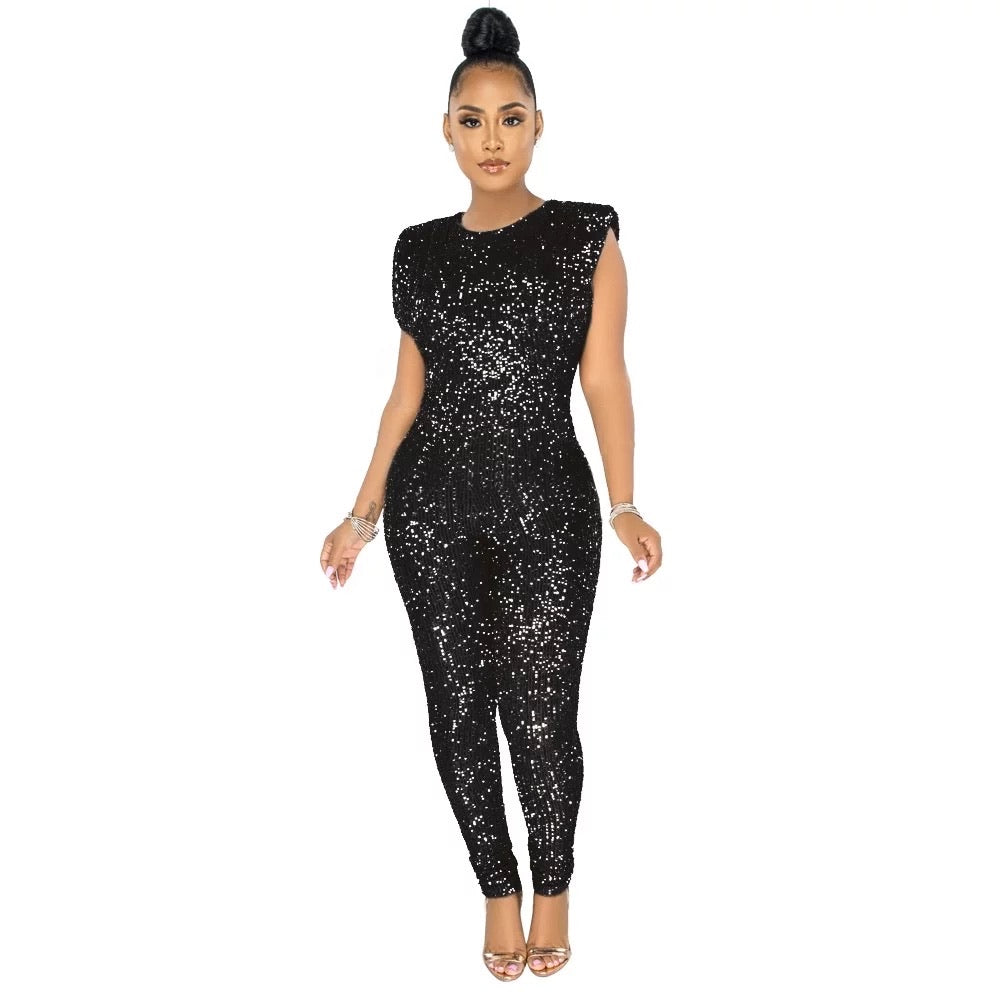 Glitz Sequined Jumpsuit