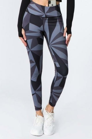 Geo Print Workout Leggings
