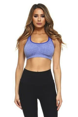 Marled Knit Sports Bra