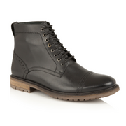 Monmouth Leather Lace-up Boot - Black