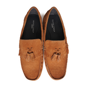 Button Boat Shoe - Tan