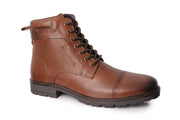 Putney Military-Style Boot - Brown
