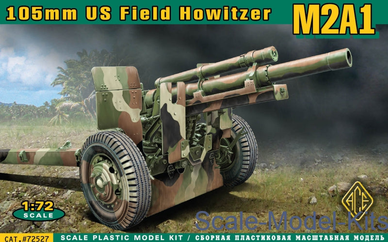 Ace Plastic Models 1/72 M2A1 105mm US Field Howitzer Gun