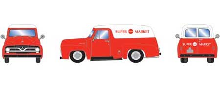 Athearn 14686 HO Scale 1955 Ford F-100 Panel Truck Superfood Market