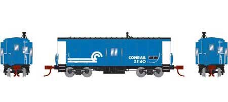 Athearn 26716 N Scale Bay Window Caboose Conrail CR 21160