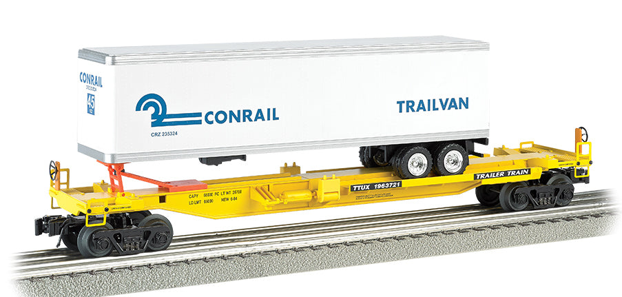 Williams by Bachmann 48402 O Gauge Front Runner Flatcar with Trailer Conrail CR