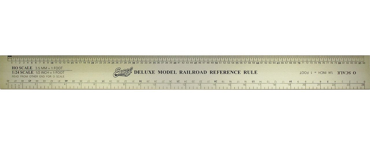 Excel 55778 Deluxe Model Railroad Ruler, Aluminum