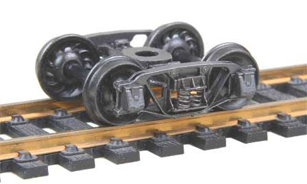 "Kadee HO Scale 553 Andrews (1898) Trucks with 33"" Ribbed Back Wheels - Self Centering"