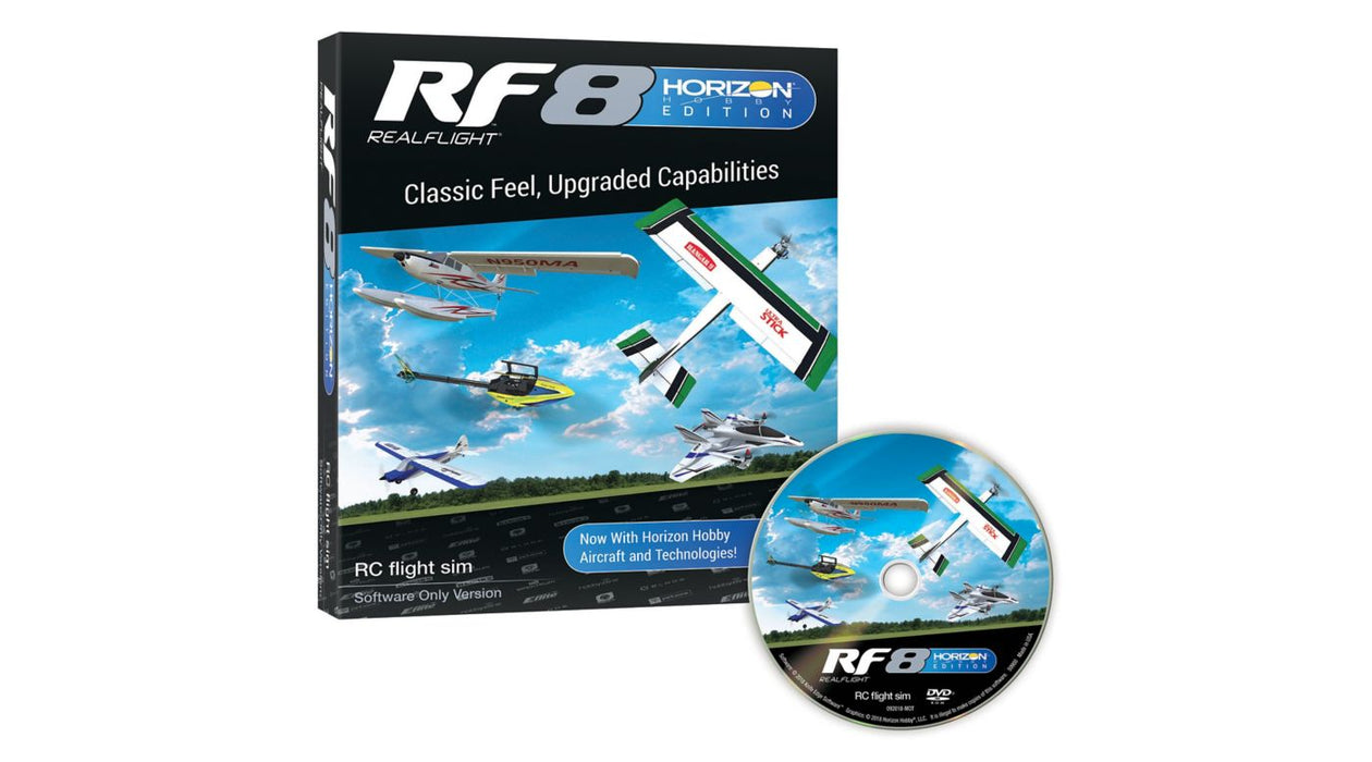RealFlight 8 Horizon Hobby Edition Flight Simulator Software Only