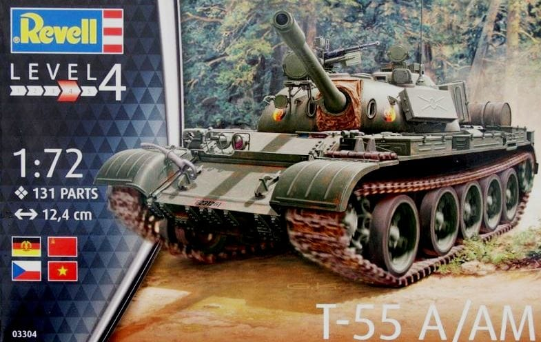Revell of Germany 3304 1/72 T55A/AM Main Battle Tank