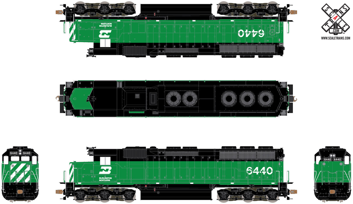 Ho scale EMD 645 20 Cyl Prime Mover