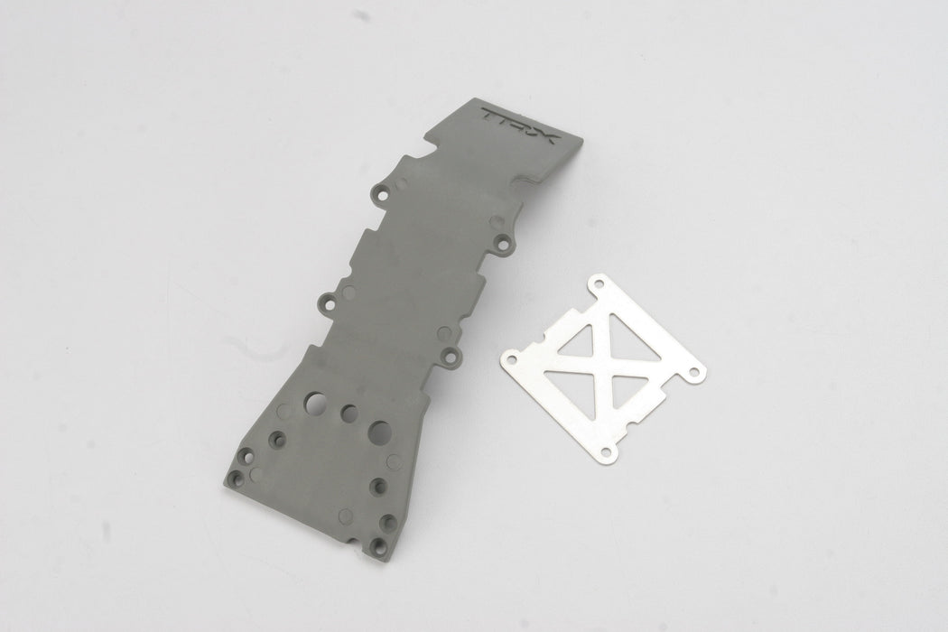 Traxxas 4937A Grey Front Plastic Skidplate/Stainless Steel Plate for T-Maxx
