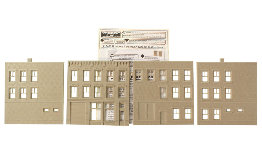 Woodland Scenics DPM 10400 HO Scale B. Moore Showroom [Building Structure Kit]