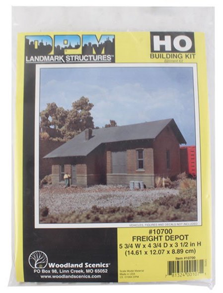 Woodland Scenics DPM 10700 HO Scale Freight Depot [Building Structure Kit]