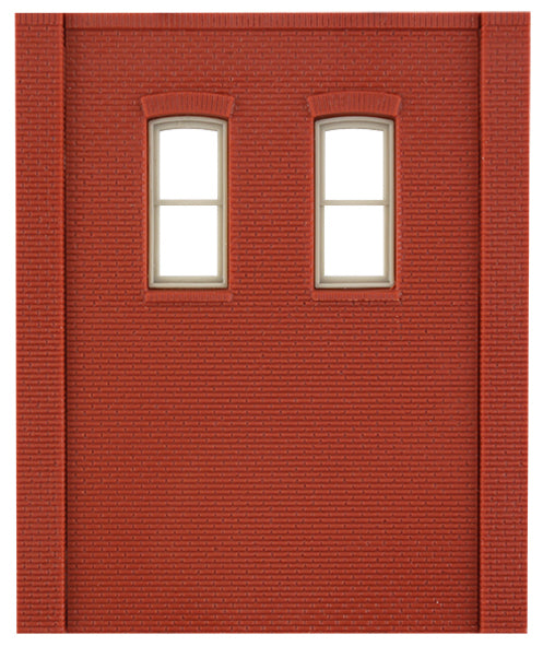 Woodland Scenics DPM 30139 HO Scale Two Story Wall Sections - 2 High Rectangle Windows 4-Pack