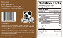 Load image into Gallery viewer, Ballistic Keto Tiramisu MCT Oil Powder