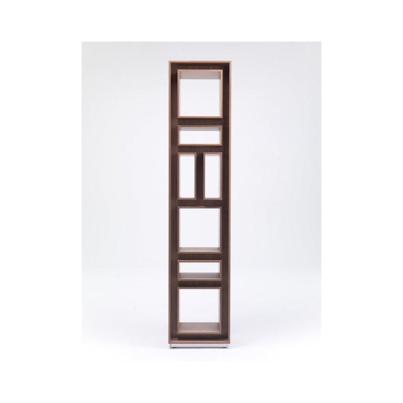 Canaletta Walnut frame, satin metal base