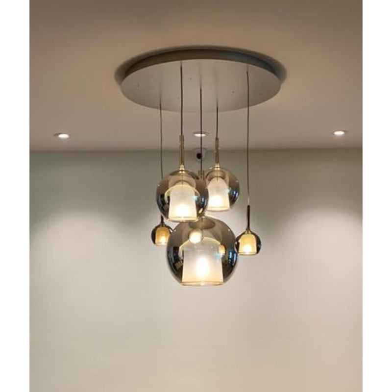 GLO PENDANT LAMP (SET OF 5 LAMPS-1 LARGE , 2 MEDIUM & 2 SMALL)