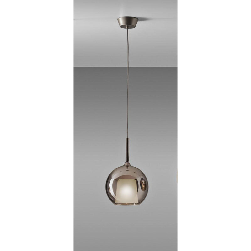 Pendant light in Black Borosilicate Glass