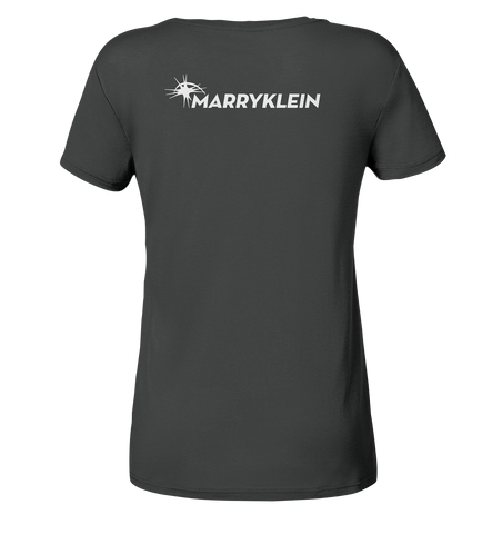 Marry Klein Logo Back White - Ladies Organic Shirt