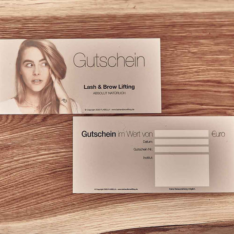 Gutschein Lash & Brow Lifting