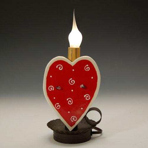 Heart Swirl Candle Lamp