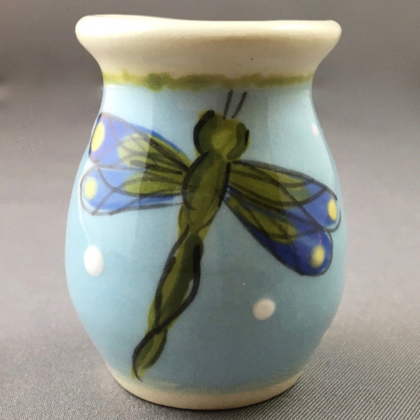 Blue Dragonfly Mini Vase