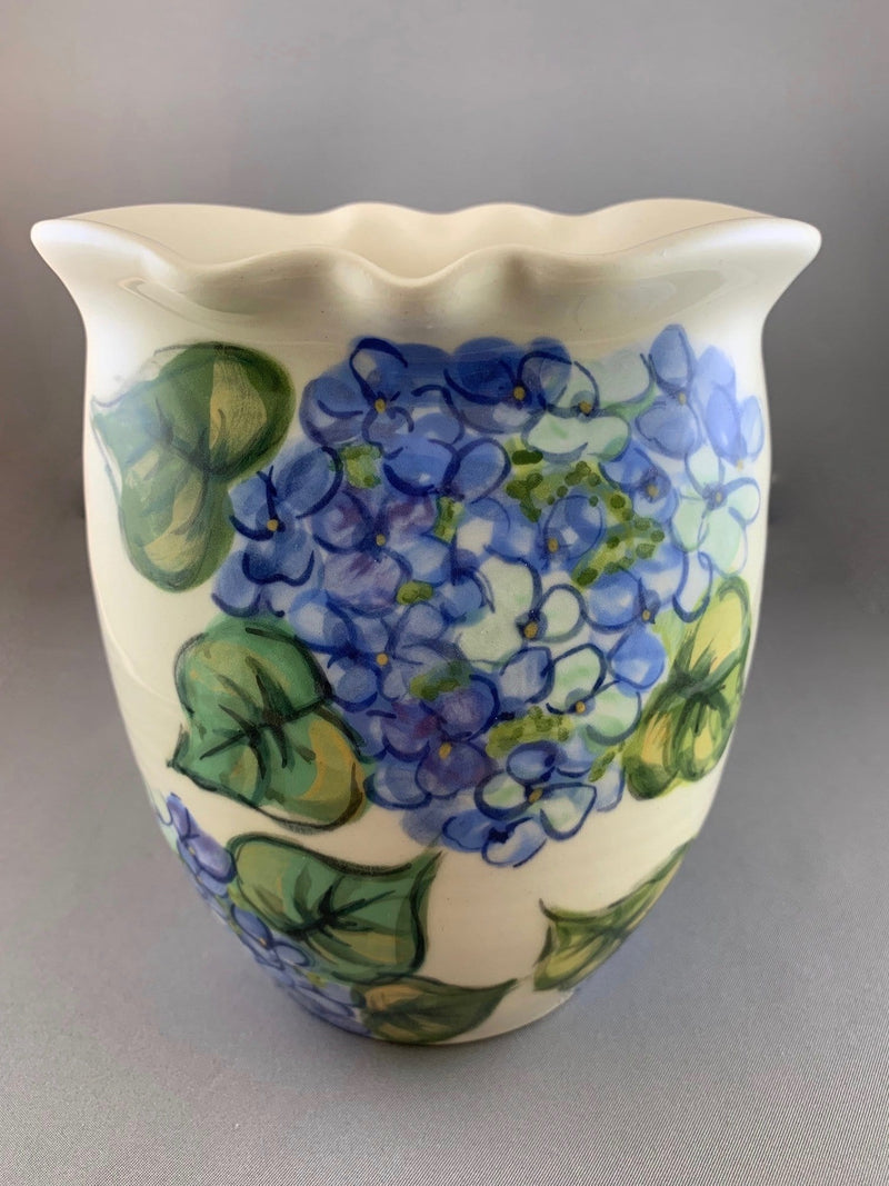 Blue Hydrangea Oval Celebration of Life Vase (front)