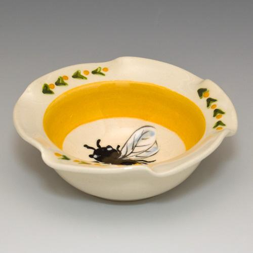 Bee Lattice Yellow Dip Bowl