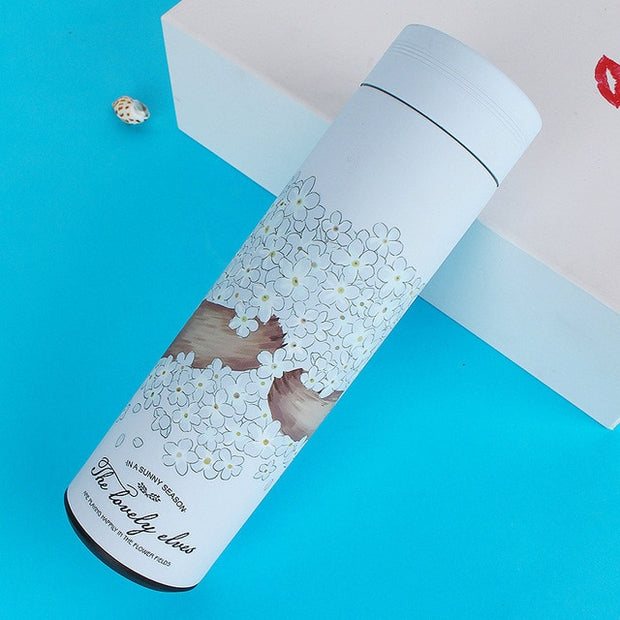 400-500ML Thermos Bottle 304 Stainless Steel Vacuum Flask Insulated Infuser Thermos for Tea Travel coffee mug