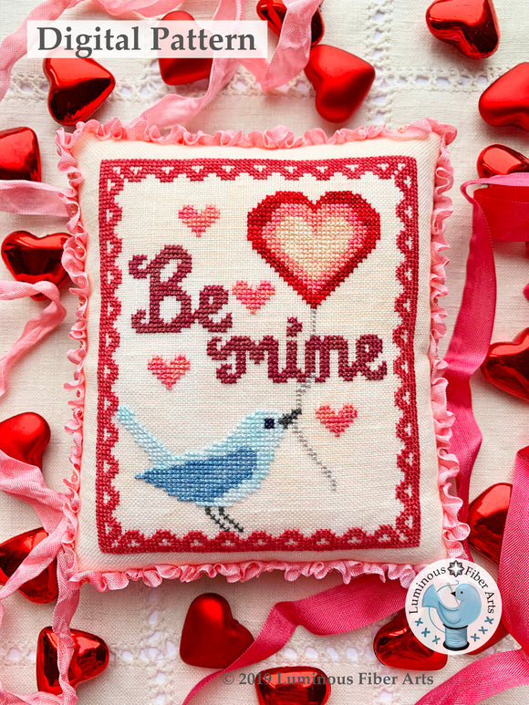 A Bluebird's Message by Luminous Fiber Arts DIGITAL PDF Pattern