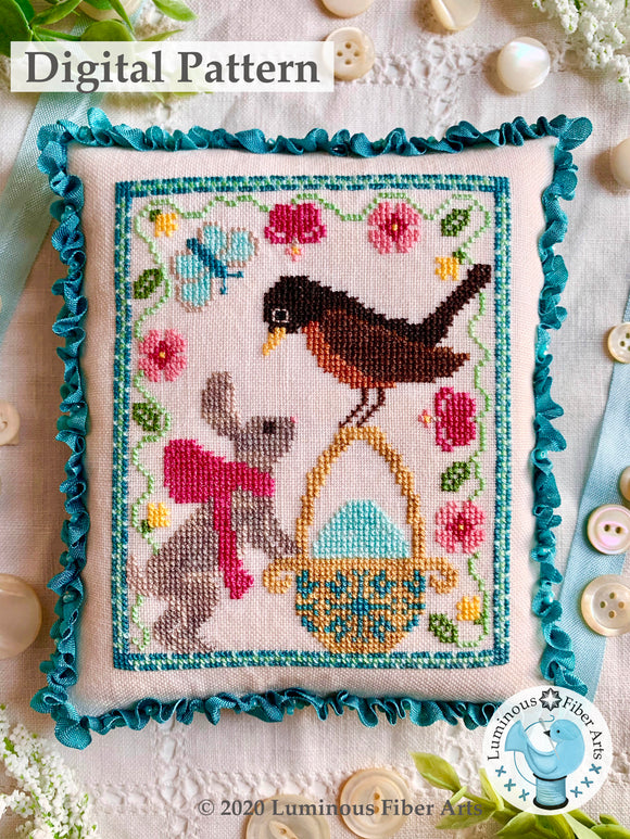 A Robin's Discovery by Luminous Fiber Arts DIGITAL PDF Pattern
