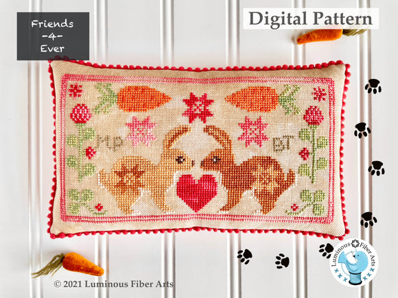 Friendship Series: BFF Bunnies by Luminous Fiber Arts DIGITAL PDF Pattern
