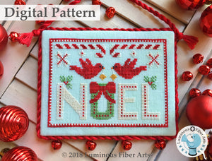 Cardinal Noel by Luminous Fiber Arts DIGITAL PDF Pattern