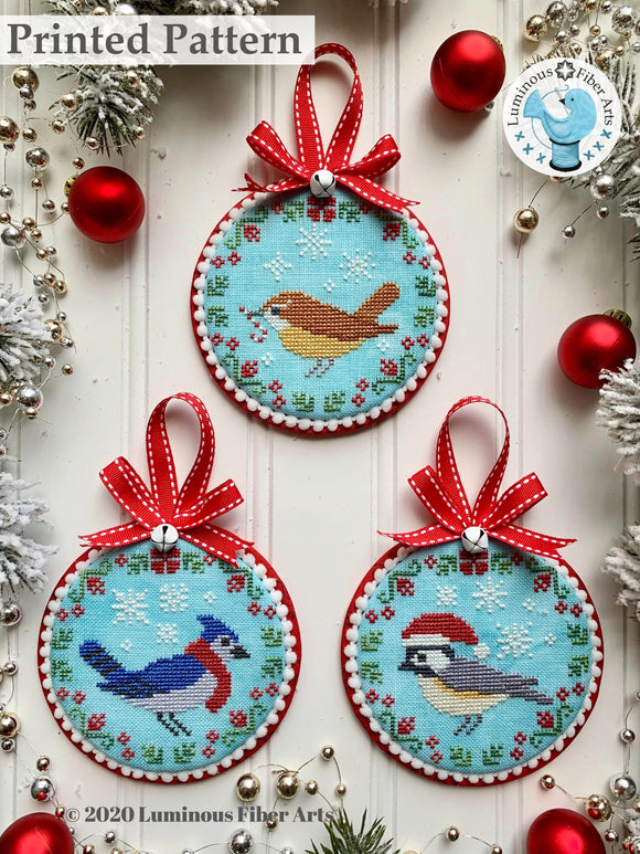 Christmas Bird Trio by Luminous Fiber Arts Printed Paper Pattern