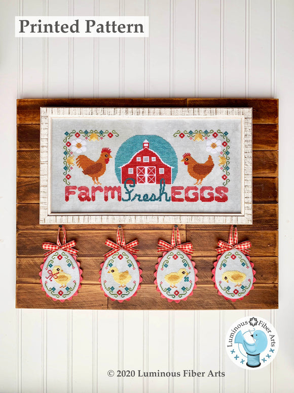 Farm Fresh Eggs by Luminous Fiber Arts Printed Paper Pattern