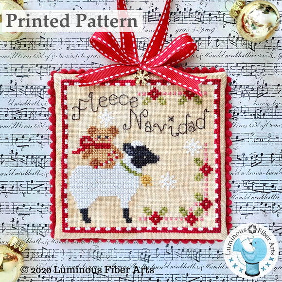 Fleece Navidad by Luminous Fiber Arts Printed Paper Pattern