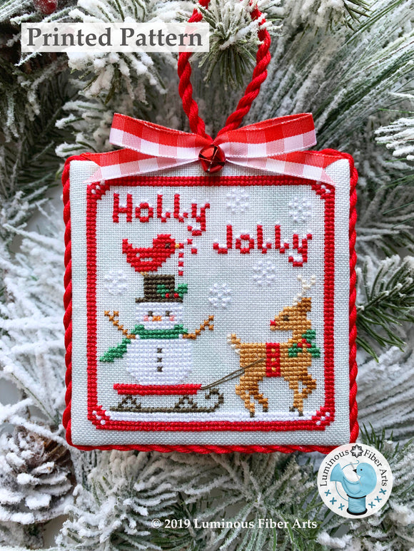 Holly Jolly by Luminous Fiber Arts Printed Paper Pattern