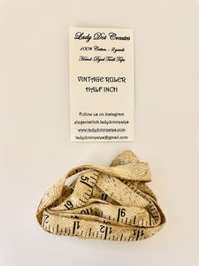Vintage Ruler Twill Tape by Lady Dot Creates