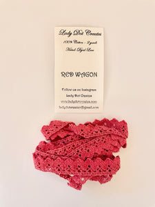 Red Wagon Lace Trim by Lady Dot Creates