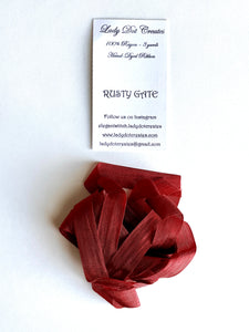 Rusty Gate Rayon Ribbon by Lady Dot Creates