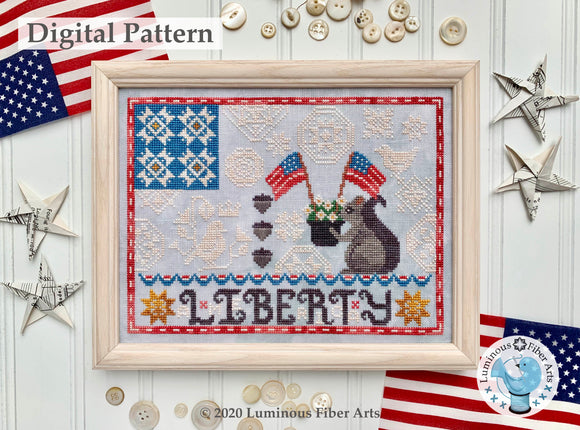 Liberty Quaker by Luminous Fiber Arts DIGITAL PDF Pattern