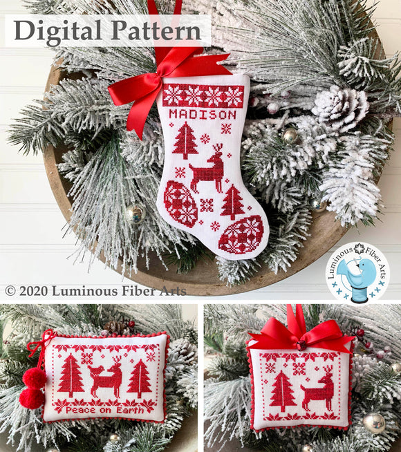 Noël Rouge by Luminous Fiber Arts DIGITAL PDF Pattern