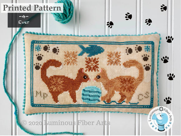 Friendship Series: Playful Cats by Luminous Fiber Arts Printed Paper Pattern