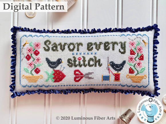Savor Every Stitch by Luminous Fiber Arts DIGITAL PDF Pattern