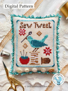 Sew Tweet by Luminous Fiber Arts DIGITAL PDF Pattern