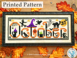 Spooky October by Luminous Fiber Arts Printed Paper Pattern