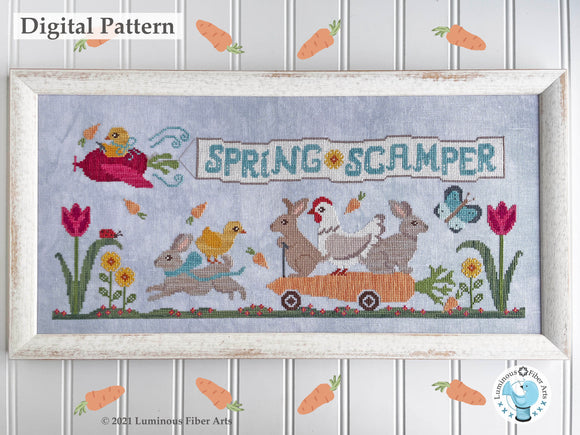 Spring Scamper by Luminous Fiber Arts DIGITAL PDF Pattern